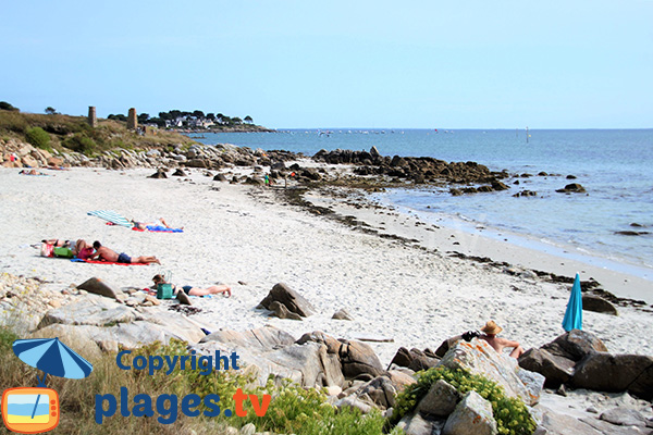 Photo de la crique au nord de la pointe de St Colomban - Carnac
