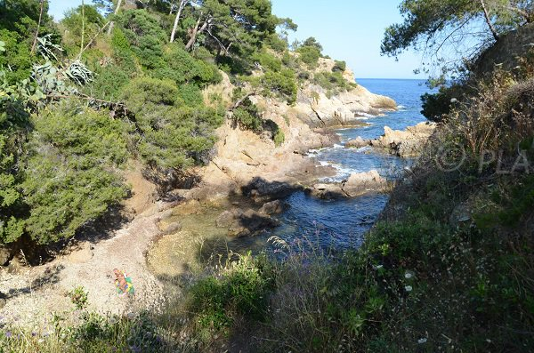 Photo of the Layet nudist creek in Lavandou