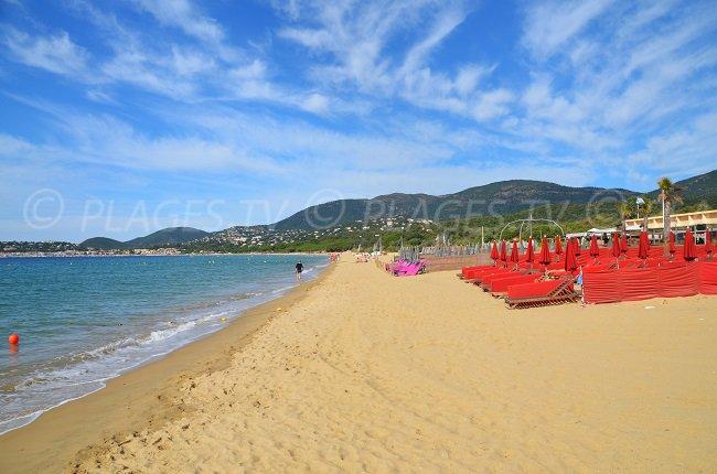 Débarquement beach in Cavalaire sur Mer Bay