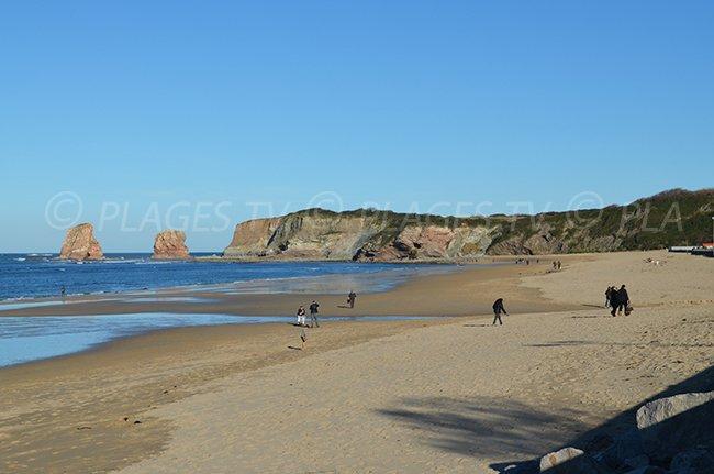 Spiaggia dei 2 Jumeaux in Hendaye