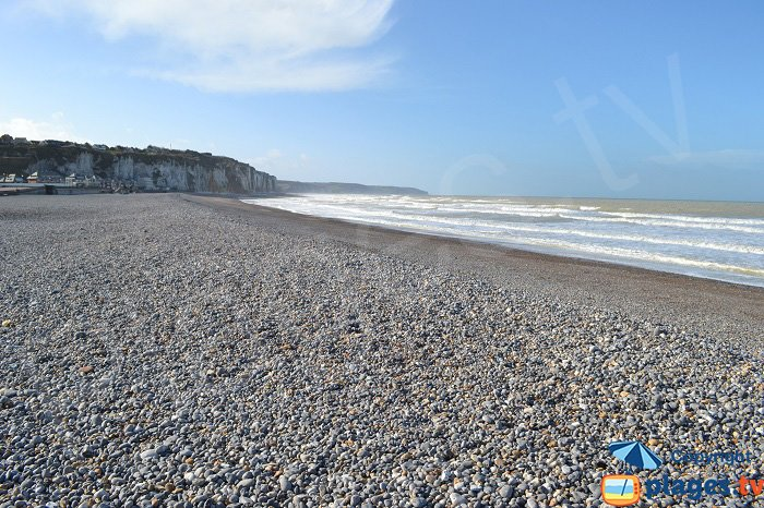 The beach in Dieppe in France