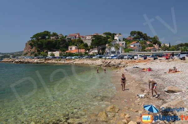 Spiaggia di ciottoli sulla quale i cani sono ammessi - Bandol
