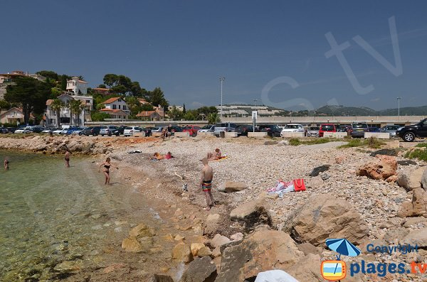 Photo de la plage autorisée aux chiens à Bandol