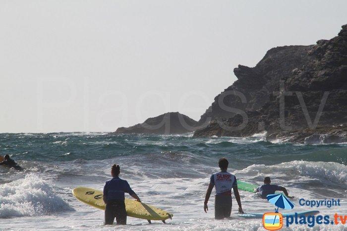 Spot de surf à Belle Ile
