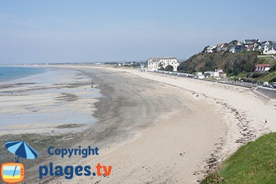 Donville and its beach - France