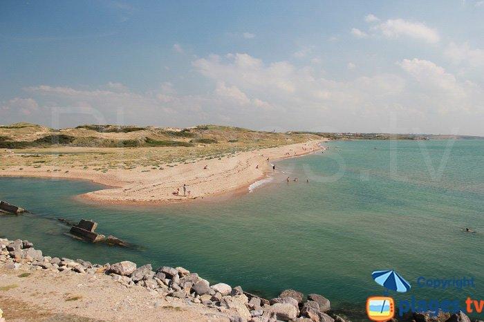 Dunes de la Slack from Wissant in France