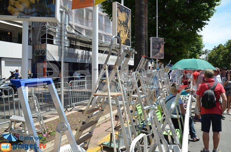 Echelles sur la Croisette face au palais des festivals