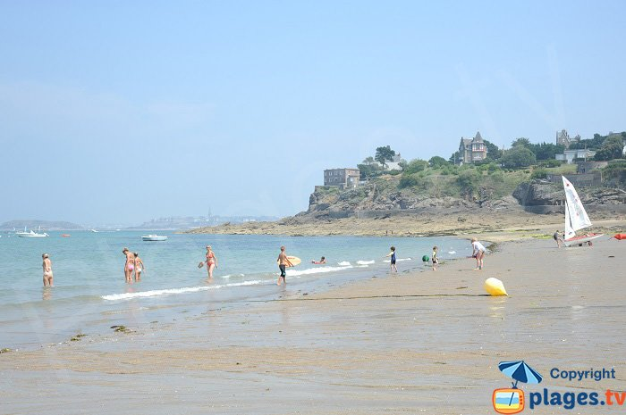 Enogat beach with St Malo in the background