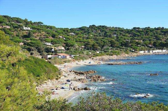 Escalet beach from the coastal path - Ramatuelle