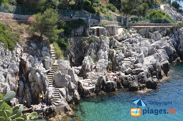 Stairs of Crau de Nao rocks - Saint Jean Cap Ferrat