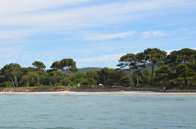 Plage de l'Estagnol accessible depuis le sentier du littoral de La Londe
