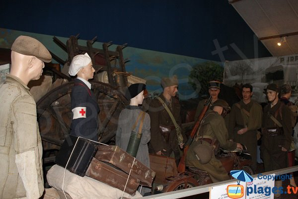 Reconstitution de l'exode civils pendant la seconde guerre mondiale