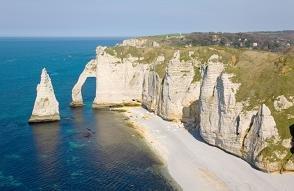 Falaises d'Etretat en Normandie