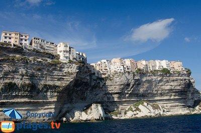 Bonifacio cliffs in Corsica