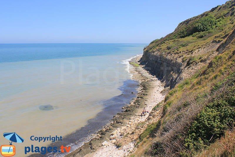 Cliffs of Port en Bessin in France - Normandy