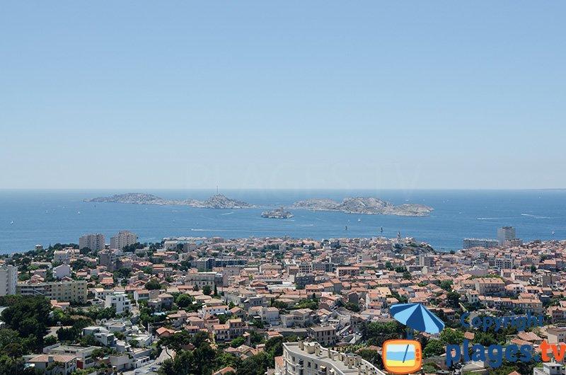 Frioul depuis Notre Dame à Marseille