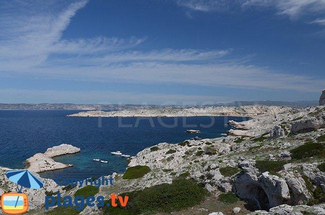 L'ile de Frioul au large de Marseille