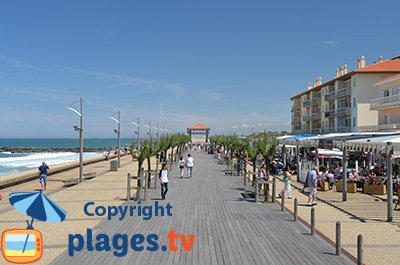 Waterfront in Anglet - beach and promenade