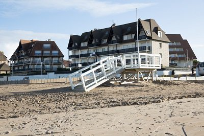 Seaside front of Benerville (Calvados)