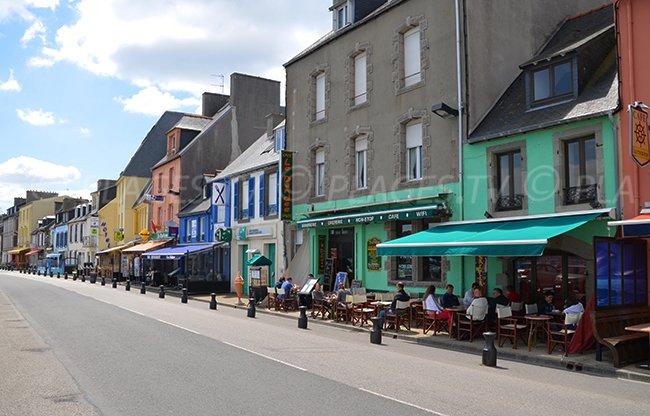 Seaside front of Camaret sur Mer in Brittany