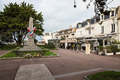 Seaside front of Courseulles-sur-Mer in France