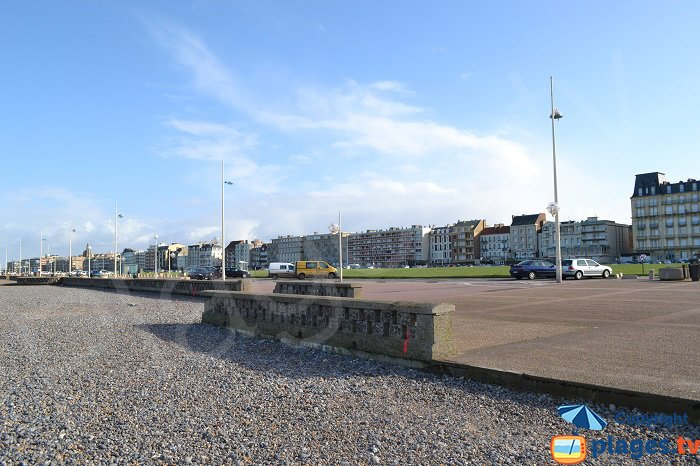 Dieppe seafront from the beach - France