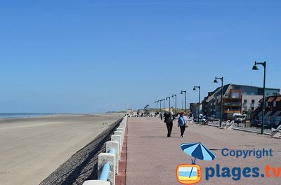 Seaside of Quend-Plage in France