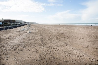 Beachfront of Tourgéville in Normandy