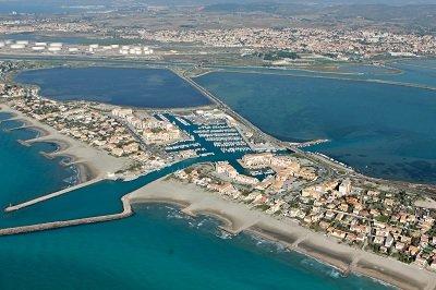 Vue générale sur Frontignan Plage dans l'Hérault