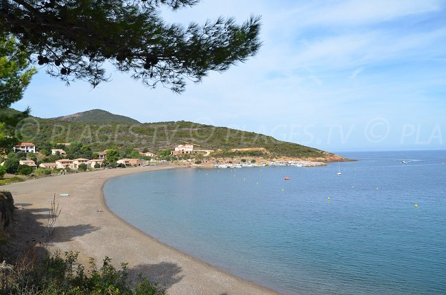 Main beach in Galéria in Corsica