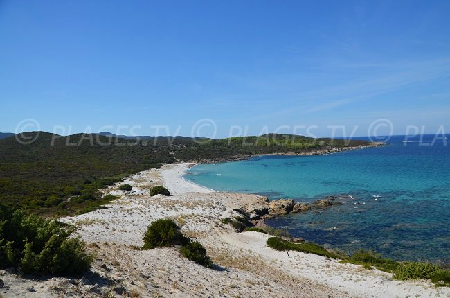 Photo of Ghignu beach from the dune - Corsica - Desert of Agriates