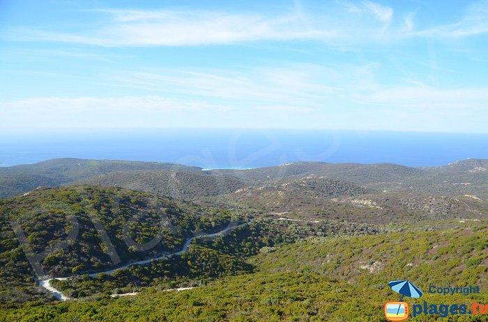 Piste de Ghignu en Corse - Désert des Agriates