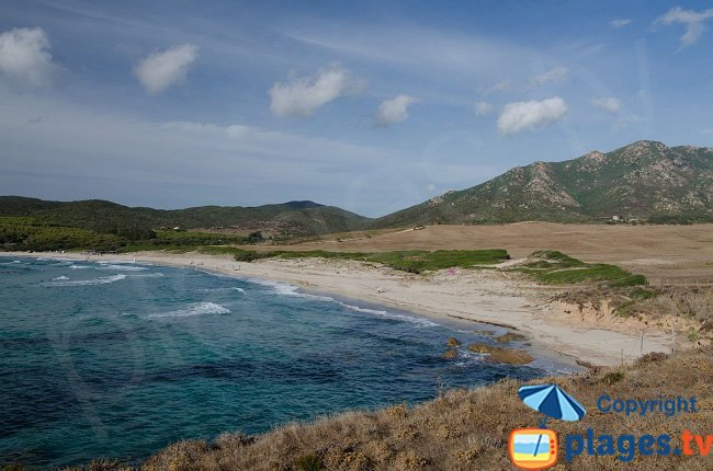 Grand Capo Beach in Ajaccio, untamed environment but often rough seas