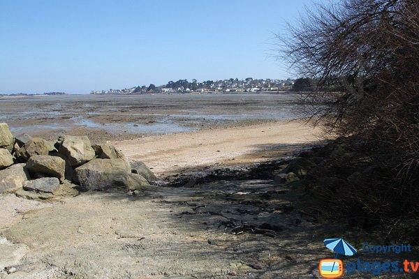 Great Beach Carantec at low tide