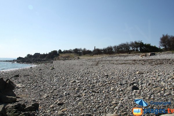 Pebble beach in Roscoff