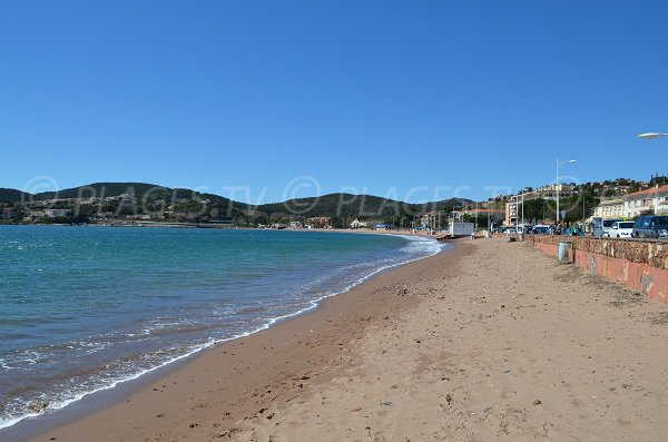 Public beach in Agay in France