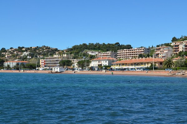 Large beach in Agay - France - Esterel