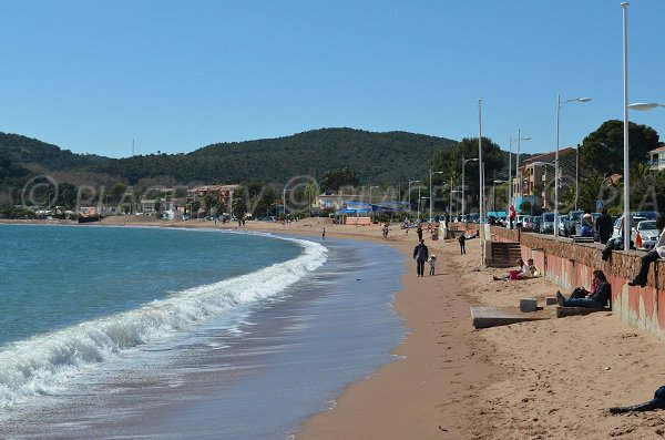 Main beach of Agay in France