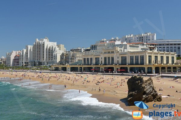 Casino beach in Biarritz in France