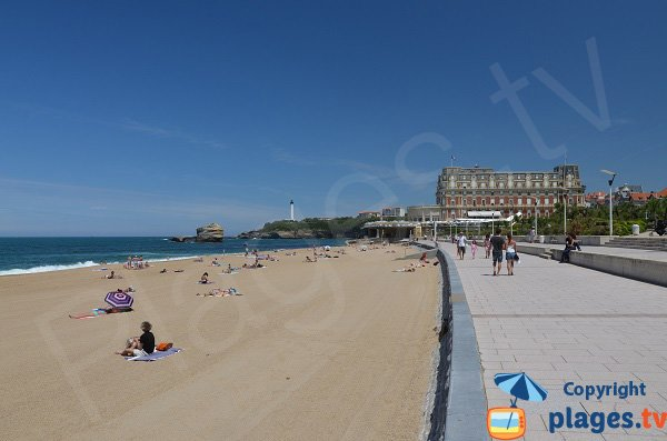 Palais and beach of Biarritz - France