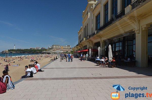 Plage et Casino de Biarritz - Cafés et restaurants