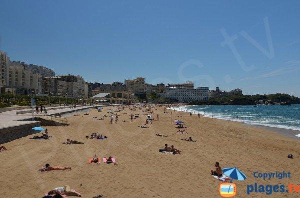 Grande plage de Biarritz - Vue depuis le Grand Palais