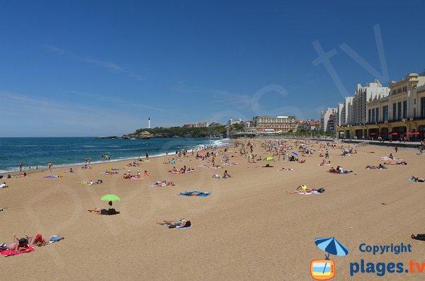 Photo de la Grande Plage de Biarritz
