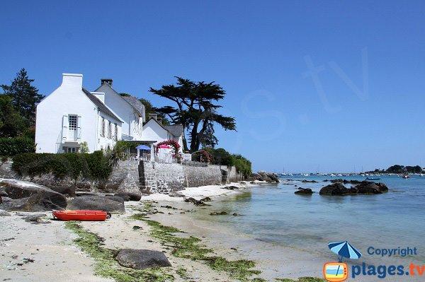 Maisons bretonnes sur la Grande Plage de Brignogan