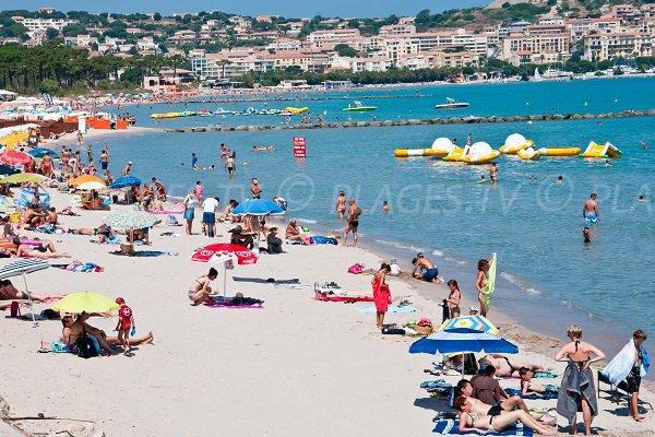 Beach in the port area of Calvi