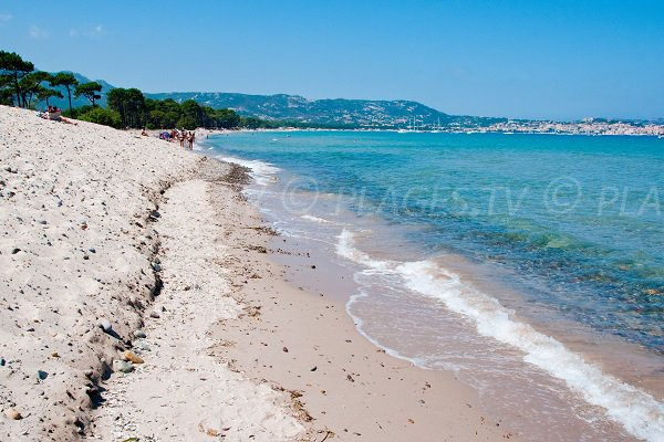 Photo de la plage de la Pinède de Calvi en direction de Lumio