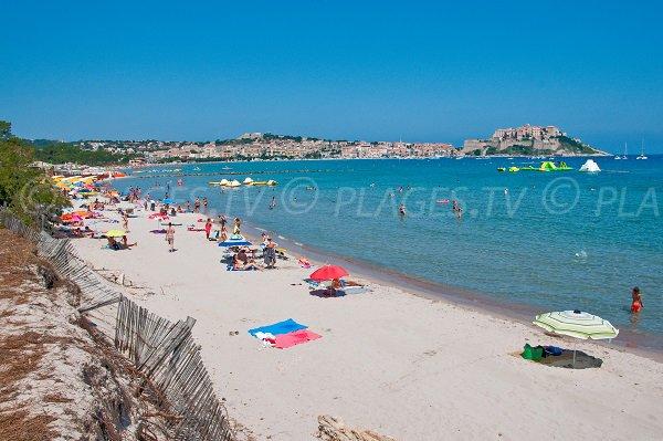 Principal beach in Calvi - Corsica