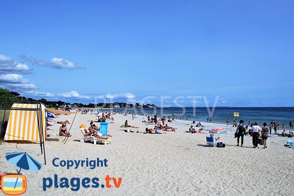 Photo de la Grande plage de Carnac en été