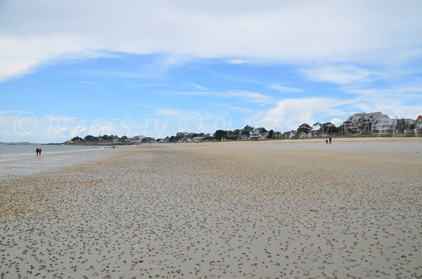Grande Plage of Carnac in low tide