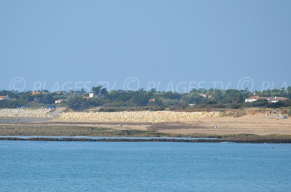 Rocky area on the main beach of Domino - Oleron